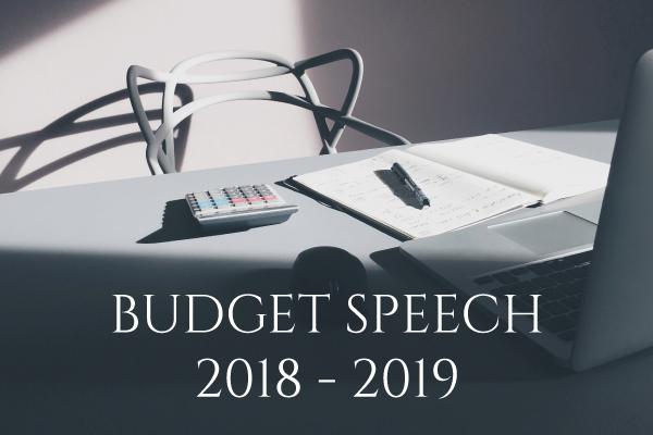 Budget Speech 2018/2019